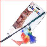 Палочка дразнилка для кошки с игрушкой и перьями