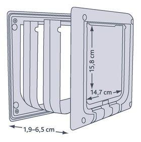 Схема дверки для кошек