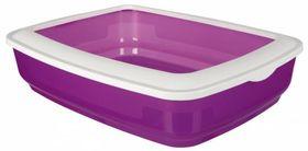 Туалет для кошки Cisco с бортиком пурпурный