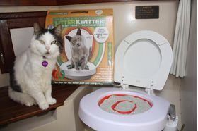 Система приучения кошек к туалету (унитазу) Litter Kwitter