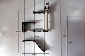 Игровой настенный комплек для кошек Форт ModernCat размеры