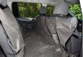 Автогамак на заднее сиденье с опущенной боковинкой