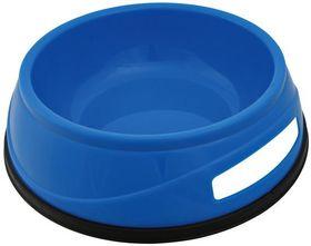 Миска пластиковая с резинкой синяя