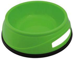 Миска пластиковая с резинкой зеленая