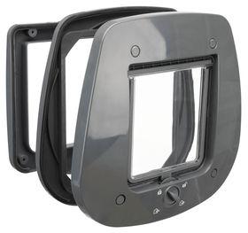 Дверца для кошки для стеклянных дверей Trixie 44222 серый