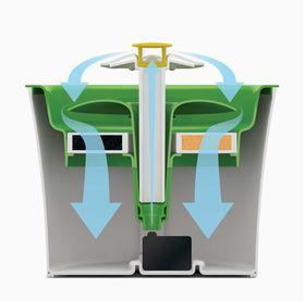 Питьевой фонтанчик–цветок Catit Senses 2.0 Hagen схема фильтрации