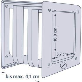 Схема уличной дверцы для кошек Trixie 3850