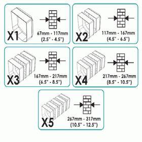 Подбор количества дополнительных тоннелей для установки двери в стену.