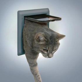 Дверm для кошки Trixie 38622 серая