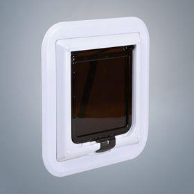 Дверь для кошек для установки в тонкий пластик или стекло Trixie 3880