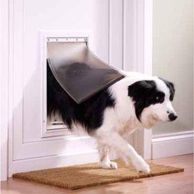 Алюминиевая дверца для собак