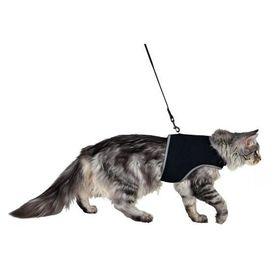 Шлейка мягкая с поводком для крупных кошек Trixie 41895
