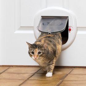 Дверца Staywell Big Cat Small Dog для стекла и тонкого пластика белая установленная