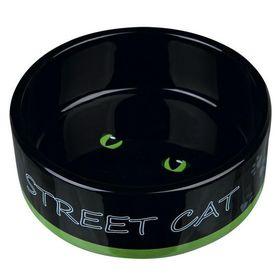 Миска керамическая Street Cat Trixie 24659 зеленая