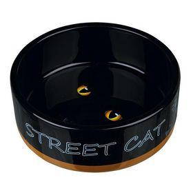 Миска керамическая Street Cat Trixie 24659 желтая