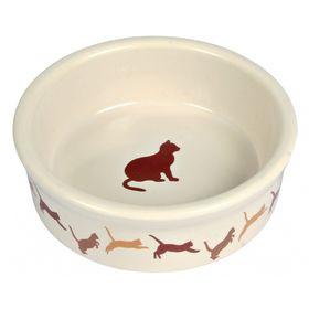 Миска для кошки керамическая Trixie 4019 бежевая