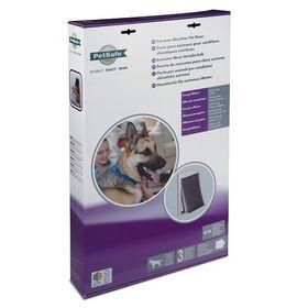 Утепленная дверь для собаки PetSafe Extreme Weather в упаковке