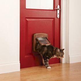Дверца для кошек с магнитным замком Petsafe Staywell Deluxe установленная