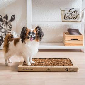 Туалет для собак с натуральным наполнителем Зоодружок