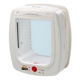 Большая дверца с определителем микрочипов Ferplast Swing MicroChip Large белая