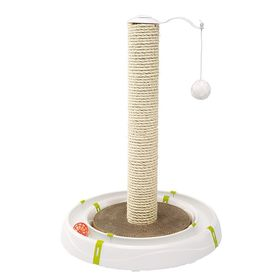 Игровой комплекс из трека с мячиком и когтеточки Ferplast Magic Tower