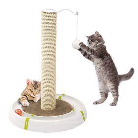 Игрушка для кошек в форме желоба в комплекте с когтеточкой Ferplast Magic Tower