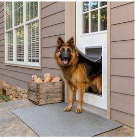 Утепленная дверь для собак до 100 кг PetSafe Extreme Weather Aluminium XL