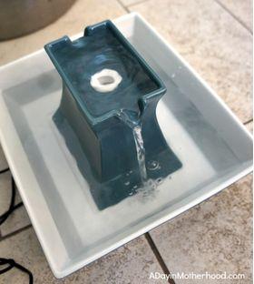 Керамическая автопоилка PetSafe Drinkwell Pagoda голубая